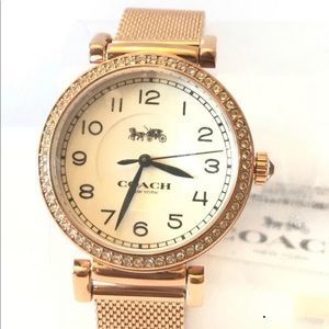 Coach Madison rose gold tone watch